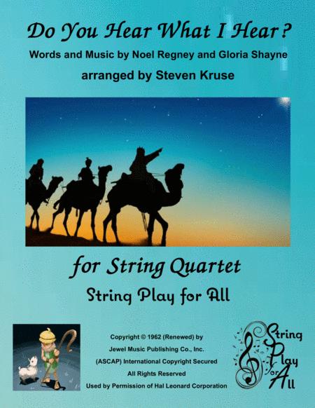 Do You Hear What I Hear for Mixed-Level String Quartet