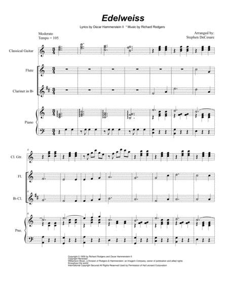 Edelweiss (Duet for Flute and Bb-Clarinet)