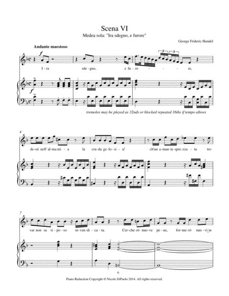 Ira, sdegno, e furore/O stringerò nel sen from Handel's Teseo - Piano/Vocal Reduction with Continuo Realization