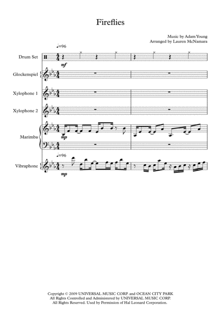 Fireflies - Percussion Ensemble