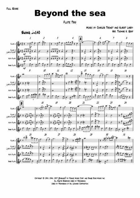 Beyond The Sea - Robby Williams ( Bobby Darin)  - Flute Trio