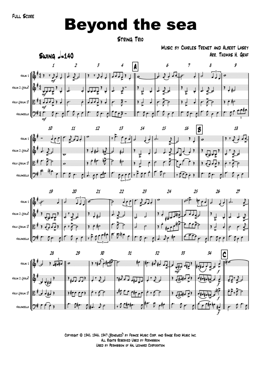 Beyond The Sea - Robby Williams ( Bobby Darin) - String Trio