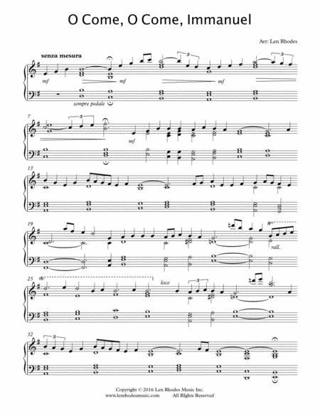 O Come, O Come Immanuel (Emanuel) - a Contemporary Interpretation for Piano Solo