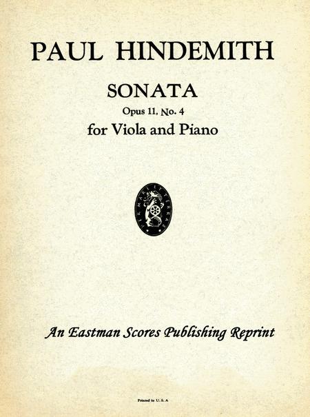 Sonata, Opus 11, No. 4 : For Viola and Piano