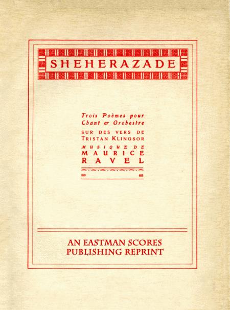 Sheherazade : trois poemes pour chant & orchestre
