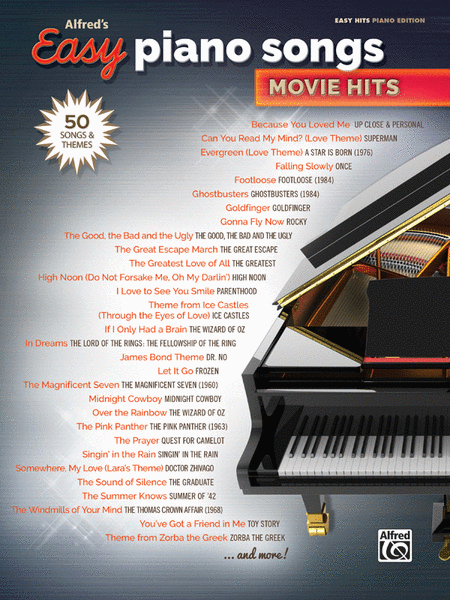 Alfred S Easy Piano Songs Movie Hits Sheet Music By