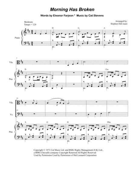 Morning Has Broken (for String Quartet)