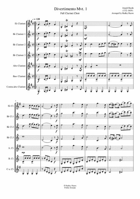Divertimento Mvt. 1 for Full Clarinet Choir