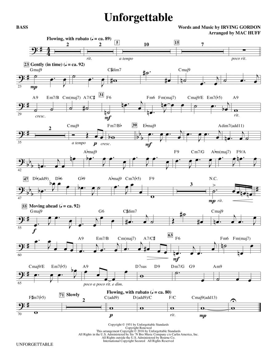 Unforgettable - Bass