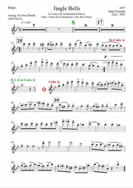 Jingle Bells (easily swinging ensemble)