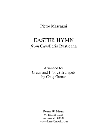 Easter Hymn, from