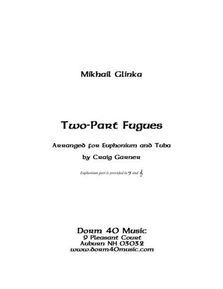 Two-Part Fugues (for Tuba and Euphonium (or Trombone))