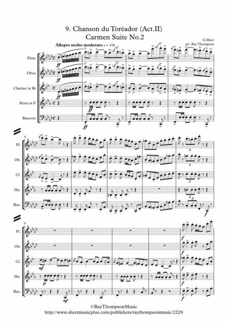 Bizet: Chanson du Toréador (Act.II)(Carmen Suite No.2) - wind quintet