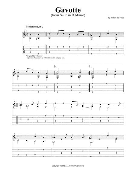 """Suite in D Minor: """"Gavotte"""""""
