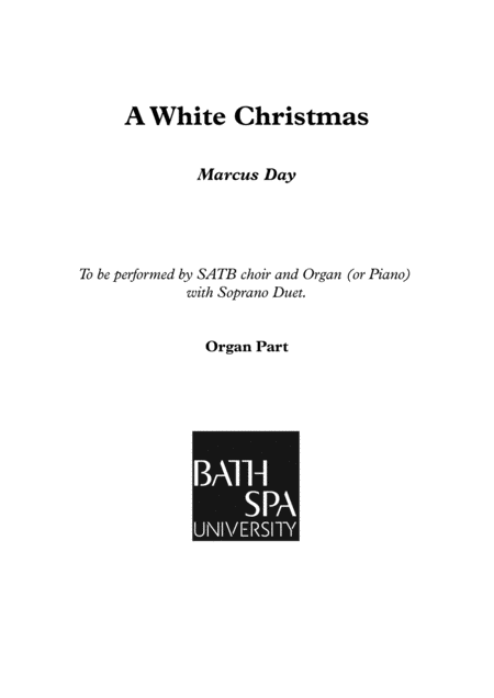 A White Christmas - Organ Score
