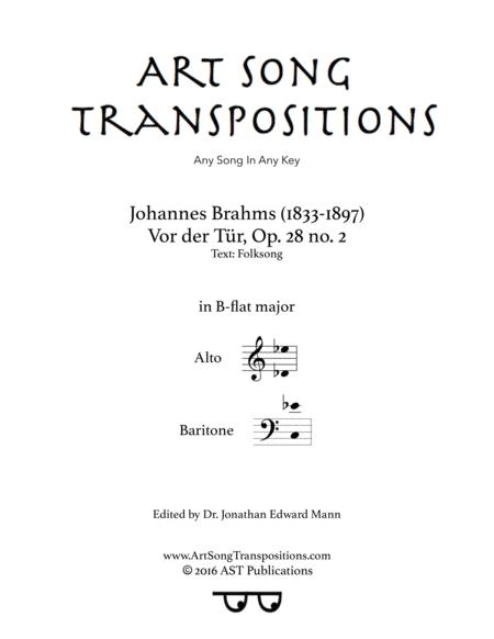Vor der Tür, Op. 28 no. 2 (B-flat major)