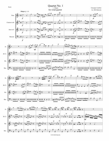 Cambini Quartet No. 1 for wind quartet