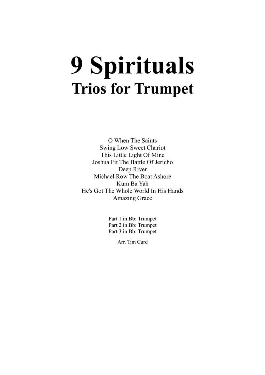 9 Spirituals, Trios For Trumpet
