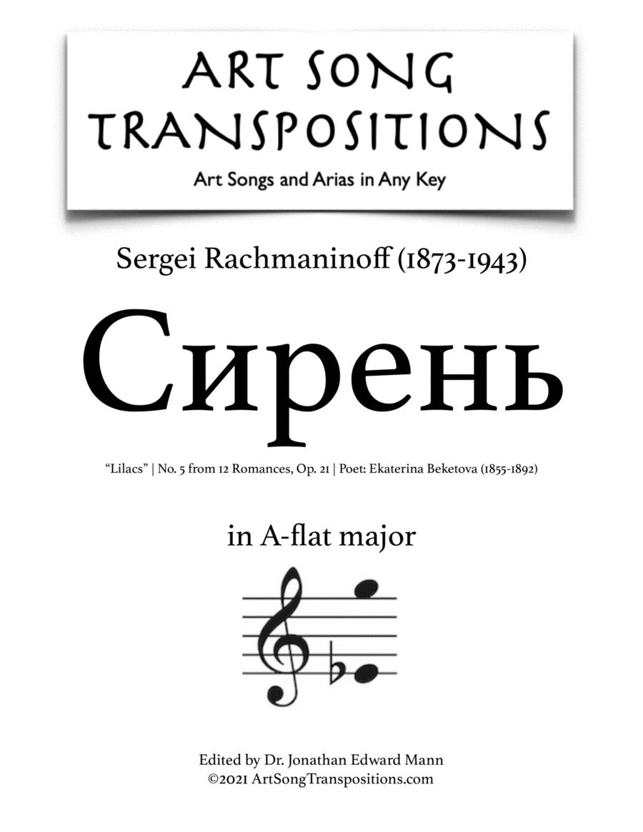 Lilacs, Op. 21 no. 5 (A-flat major)
