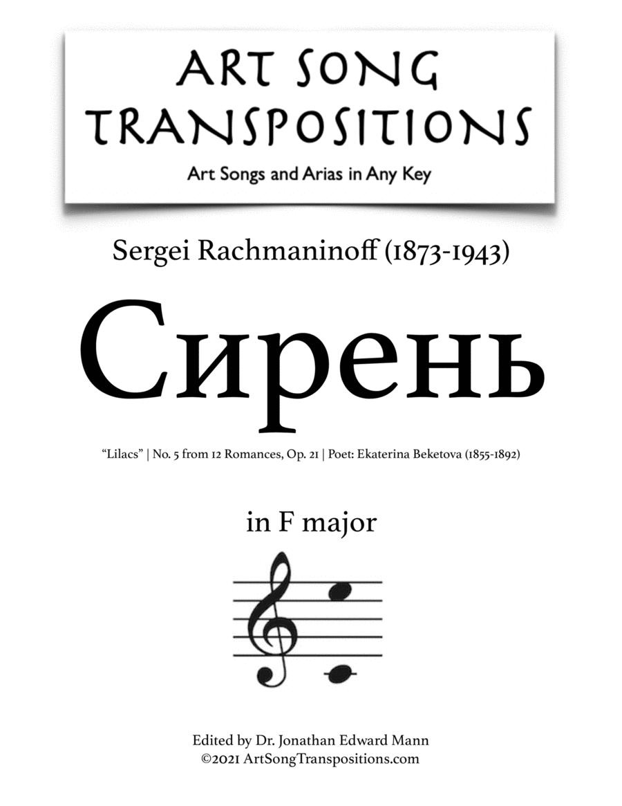 Lilacs, Op. 21 no. 5 (F major)