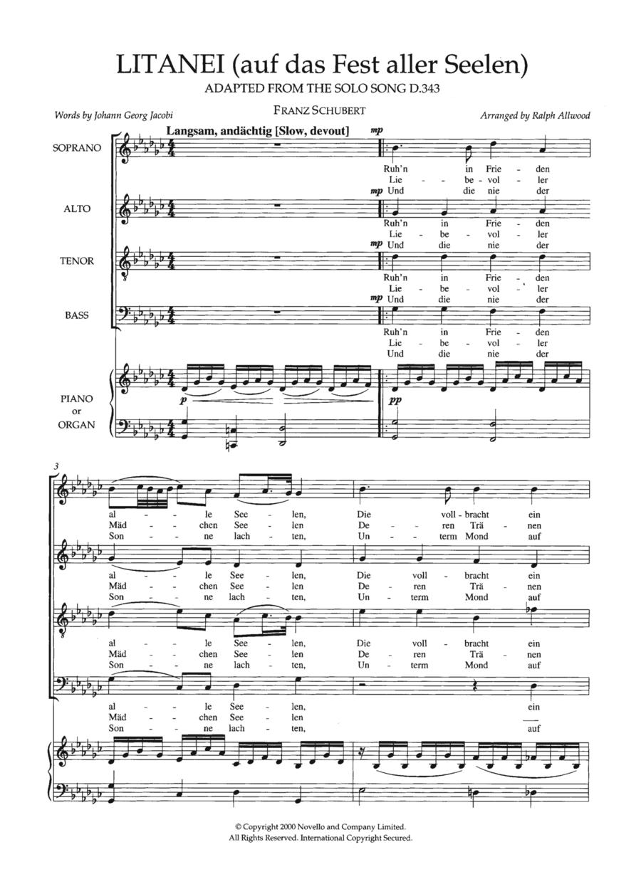 Litanei (Auf Das Fest Aller Seelen) (arr. Ralph Allwood)