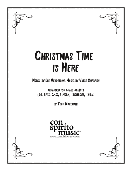 Christmas Time Is Here — brass quintet