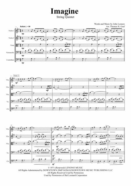 Imagine - John Lennon's Classic - String Quintet