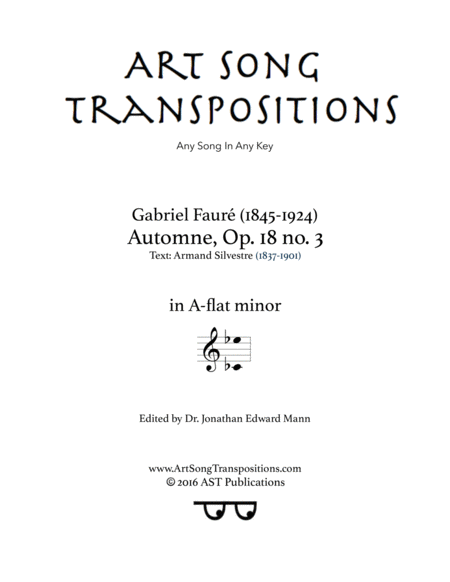 Automne, Op. 18 no. 3 (A-flat minor)