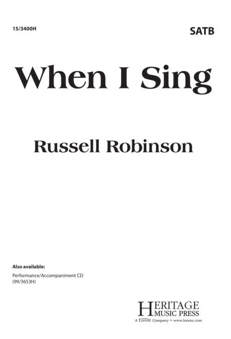 When I Sing