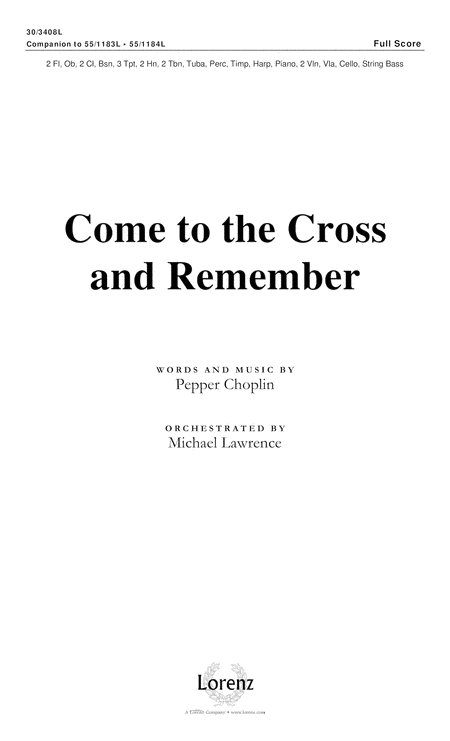 Come to the Cross and Remember - Full Score