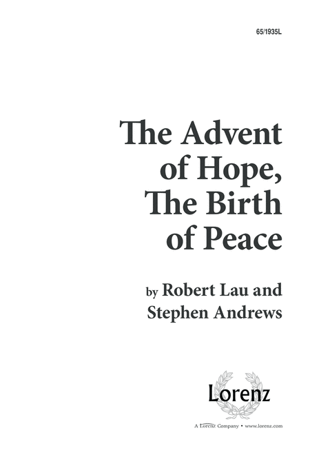The Advent of Hope, the Birth of Peace