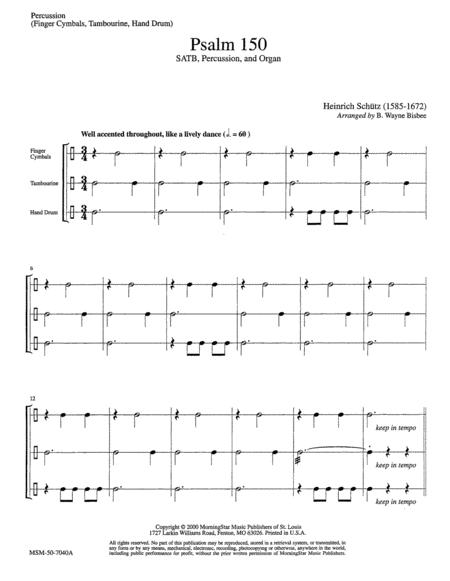 Psalm 150 (Instrumental Parts)