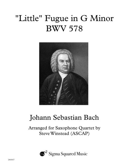 Little Fugue in G Minor, BWV 578 for Saxophone Quartet