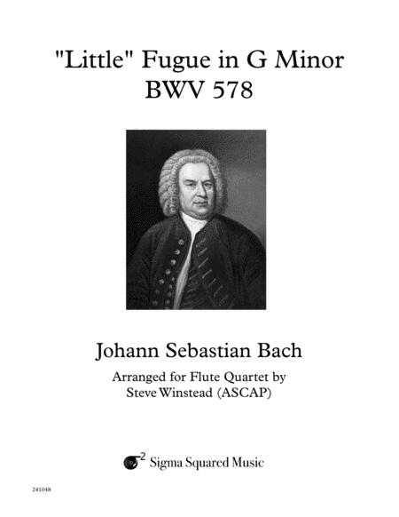 Little Fugue in G Minor, BWV 578 for Flute Quartet or Choir