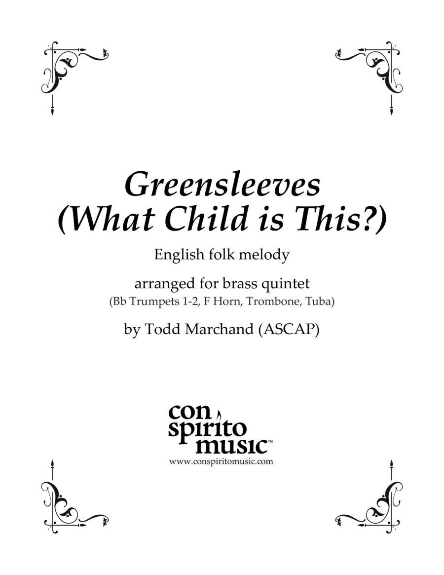 Greensleeves (What Child Is This?)