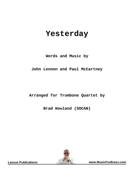 Yesterday for Trombone Quartet