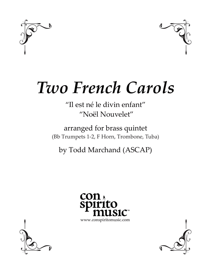 Two French Carols — brass quintet