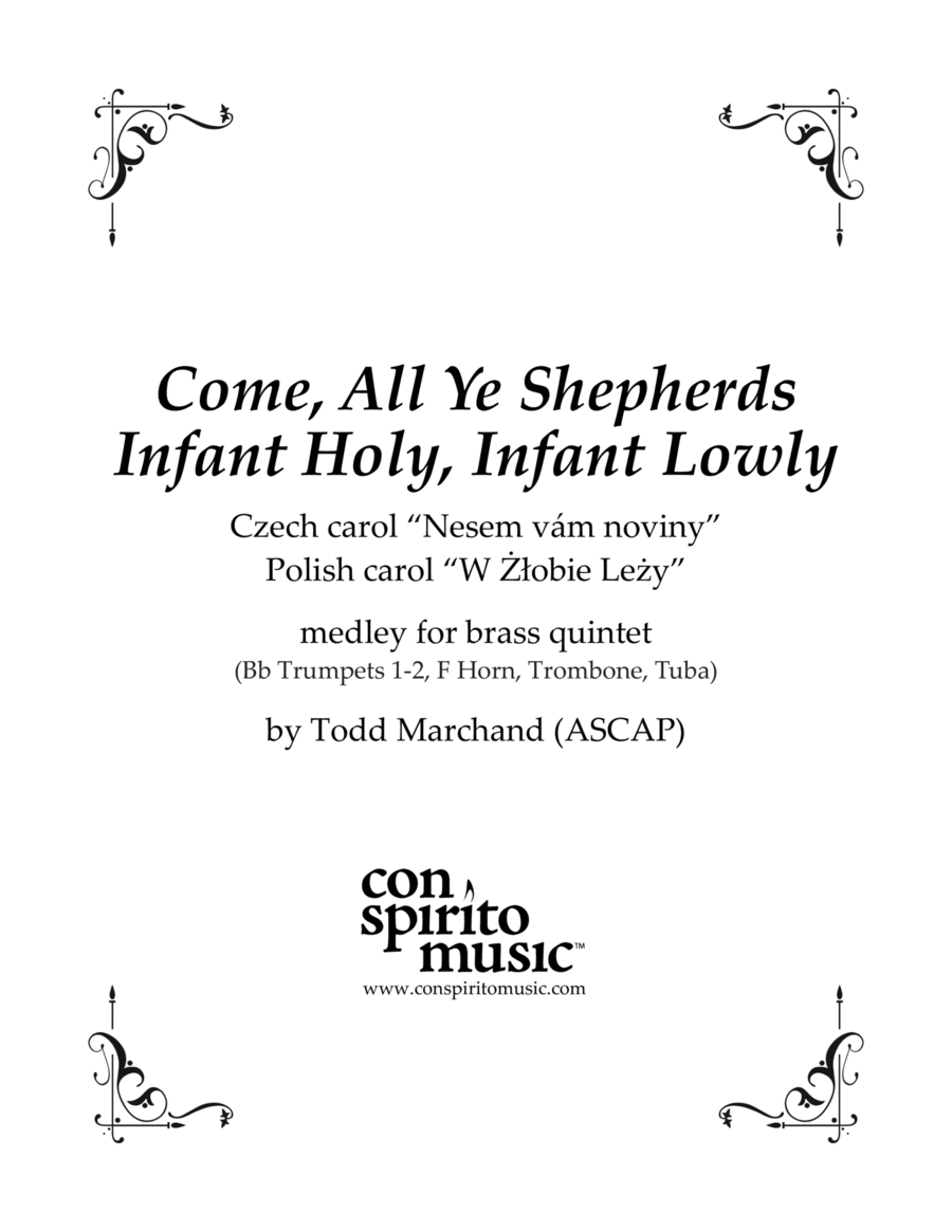 Two Peaceful Carols — brass quintet