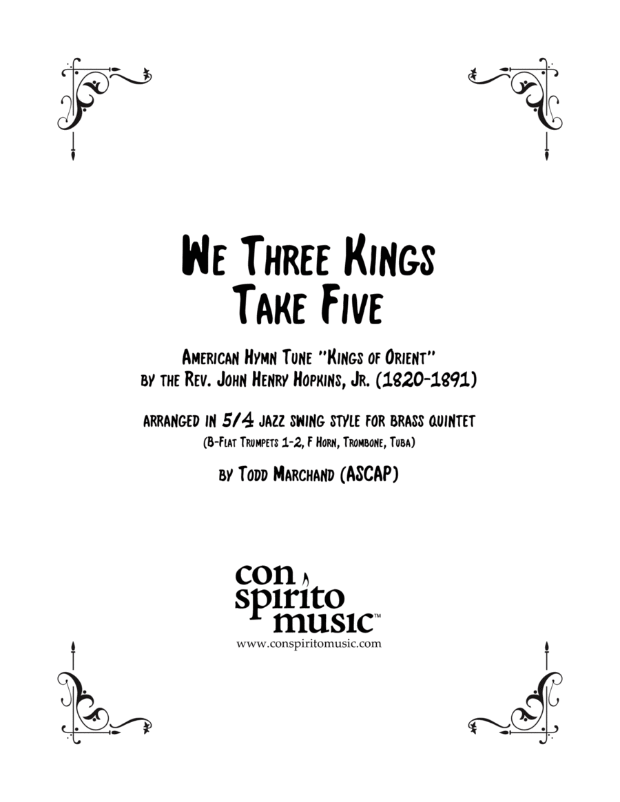 We Three Kings Take Five — brass quintet