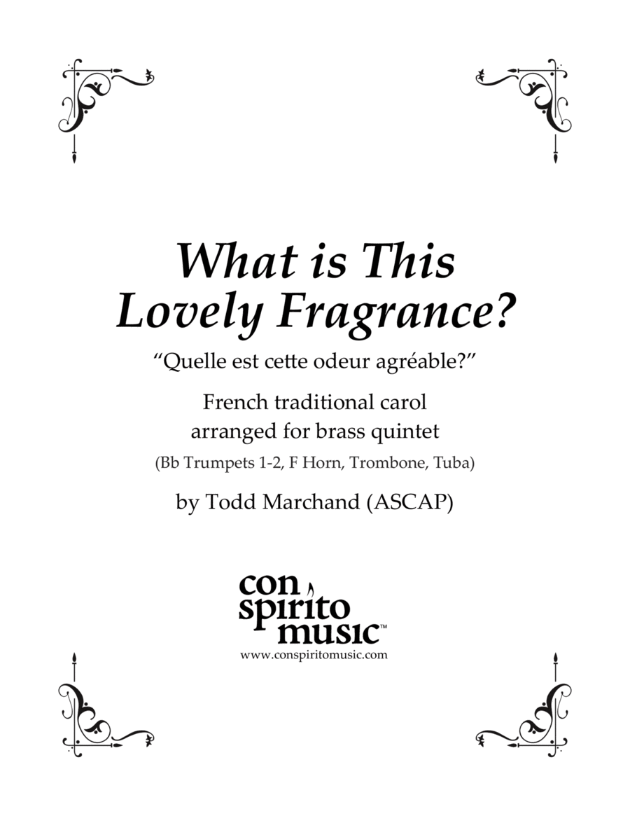 What is This Lovely Fragrance? - French Noel arr. for brass quintet