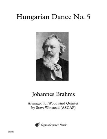 Hungarian Dance No. 5 for Woodwind Quintet