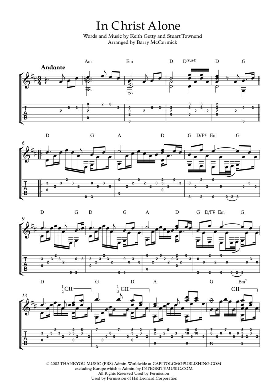 In Christ Alone \  Fingerstyle Guitar Arrangement
