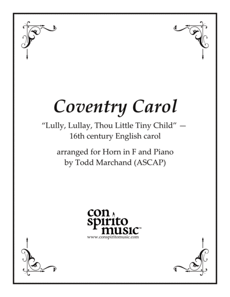 The Coventry Carol - F horn and piano