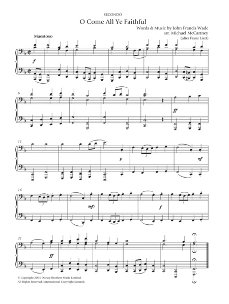 oh come all ye faithful piano sheet music pdf