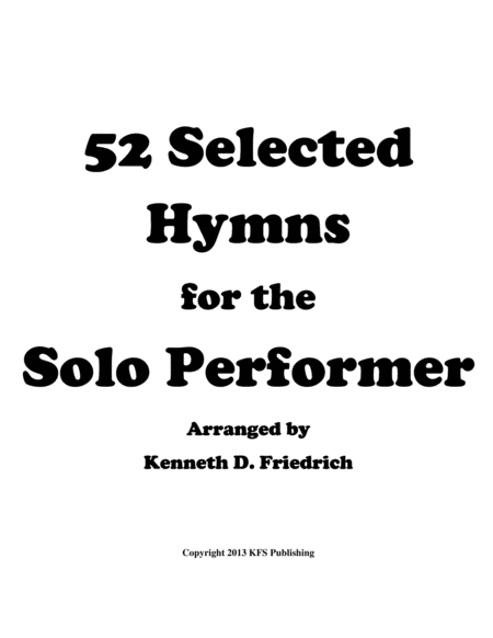 52 Selected Hymns for the Solo Performer - alto saxphone