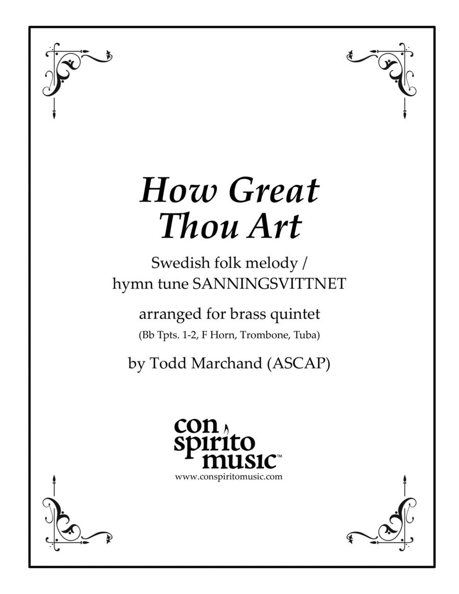 How Great Thou Art — brass quintet