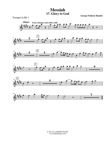 Handel Messiah - Trumpet in Bb 1 (Transposed Part), HWV 56