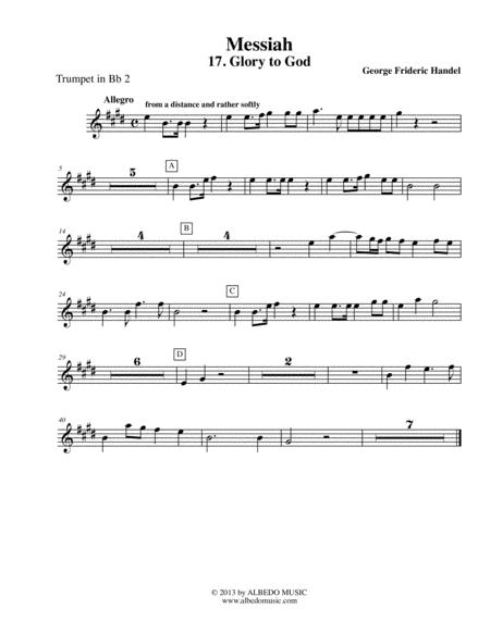 Handel Messiah - Trumpet in Bb 2 (Transposed Part), HWV 56