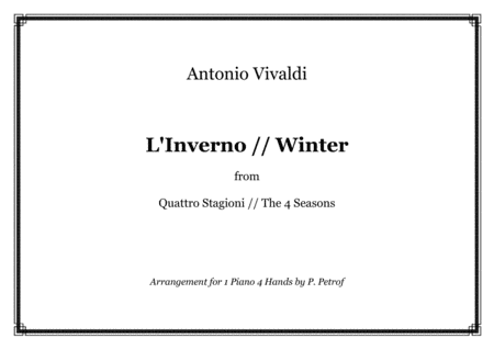A. Vivaldi - WINTER from ''The 4 Seasons'' - piano 4 hands