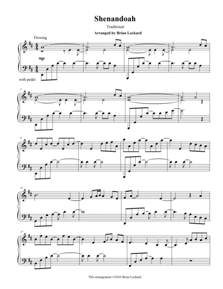 Shenandoah Piano Solo